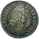 Kingdom of France, Louis XIV, 1/2 Ecu aux insignes 1701 (obverse)