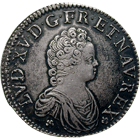 Kingdom of France, Louis XV, Ecu 1716 (obverse)