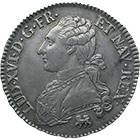 Kingdom of France, Louis XVI, 1/2 Ecu aux Lauriers 1792 (obverse)