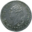 Kingdom of France, Louis XVI, 1/5 Ecu 1788 (obverse)