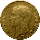 French Empire, Napoleon I, 40 Francs 1806 (obverse)