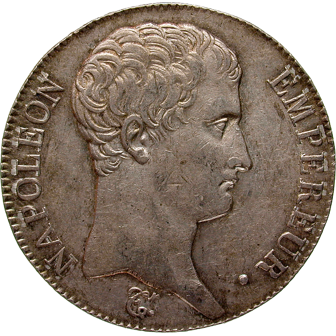French Empire, Napoleon I, 5 Francs 1806 (obverse)