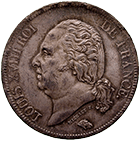 Kingdom of France, Louis XVIII, 5 Francs 1817 (obverse)