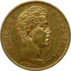 Kingdom of France, Charles X, 40 Francs 1828 (obverse)