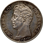 Kingdom of France, Charles X, 1 Franc 1825 (obverse)