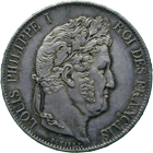 Kingdom of France, Louis Philippe I, 5 Francs 1847 (obverse)