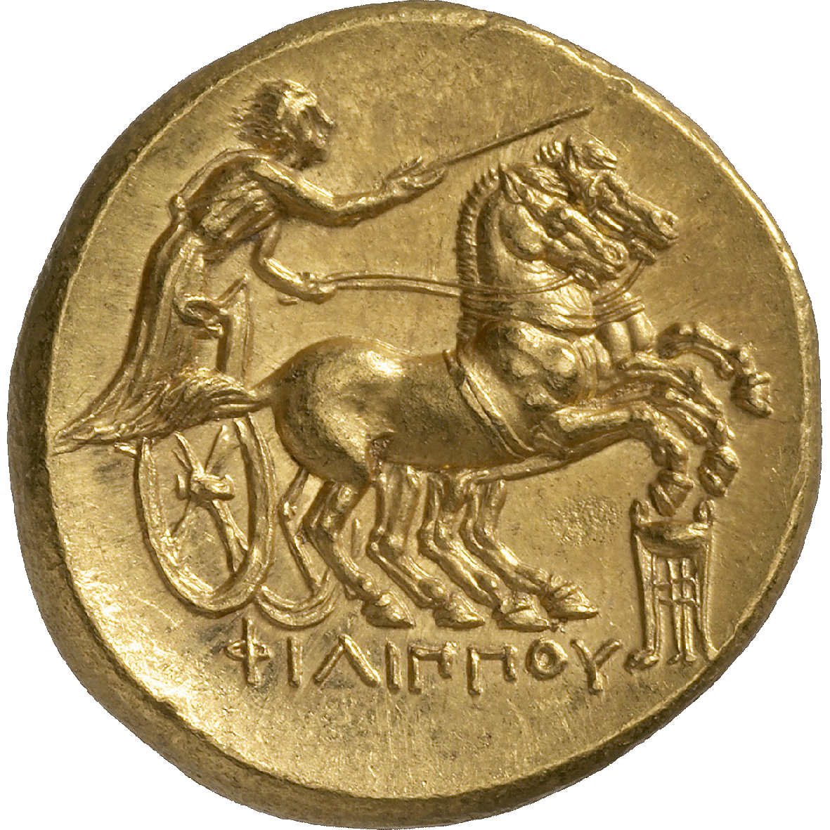 Kingdom of Macedon, Alexander III in the Name of Philip II, Stater (reverse)