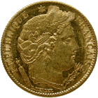 Republic of France, 10 Francs 1851 (obverse)
