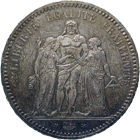 Republic of France, 5 Francs 1873 (obverse)