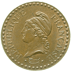 Republic of France, 1 Centime 1850 (obverse)
