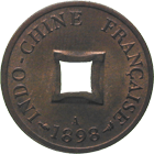 Republic of France, French Indochina, Sapèque 1898 (obverse)