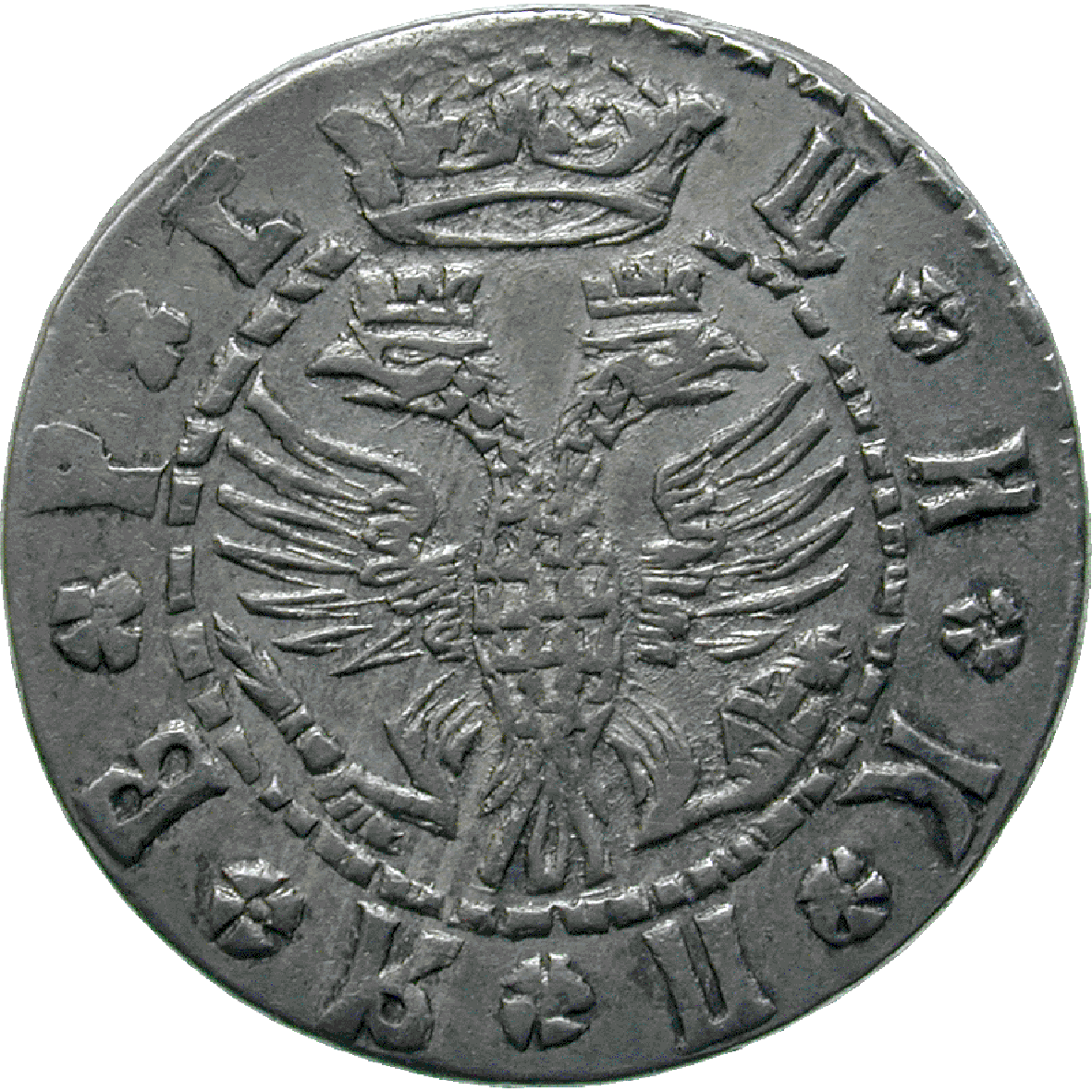 Russian Empire, Peter I the Great, Grivna 1709 (obverse)