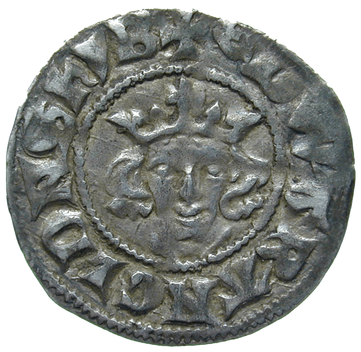 Kingdom of England, Edward I, Penny (obverse)