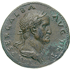 Roman Empire, Galba, Sesterce (obverse)