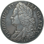 United Kingdom of Great Britain, George II, Shilling 1745 (obverse)