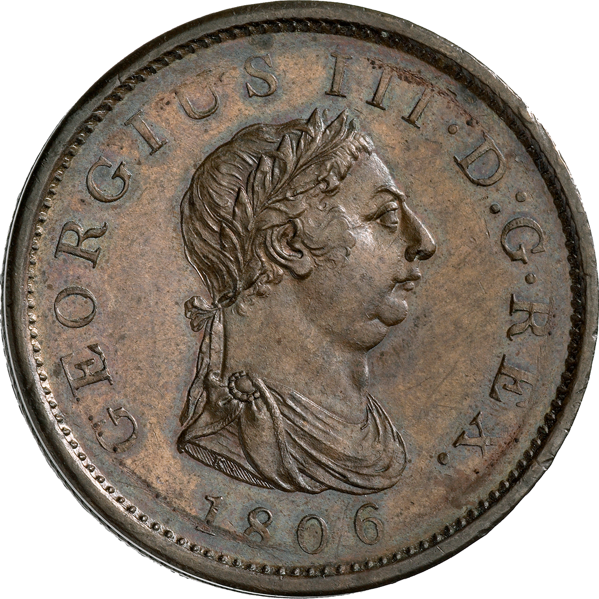 United Kingdom of Great Britain, George III, Penny 1806 (obverse)