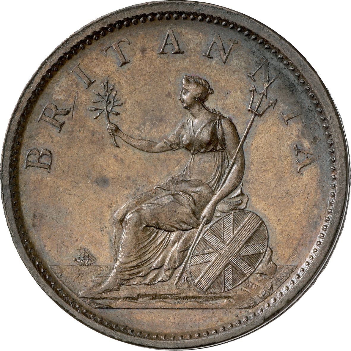 United Kingdom of Great Britain, George III, Penny 1806 (reverse)