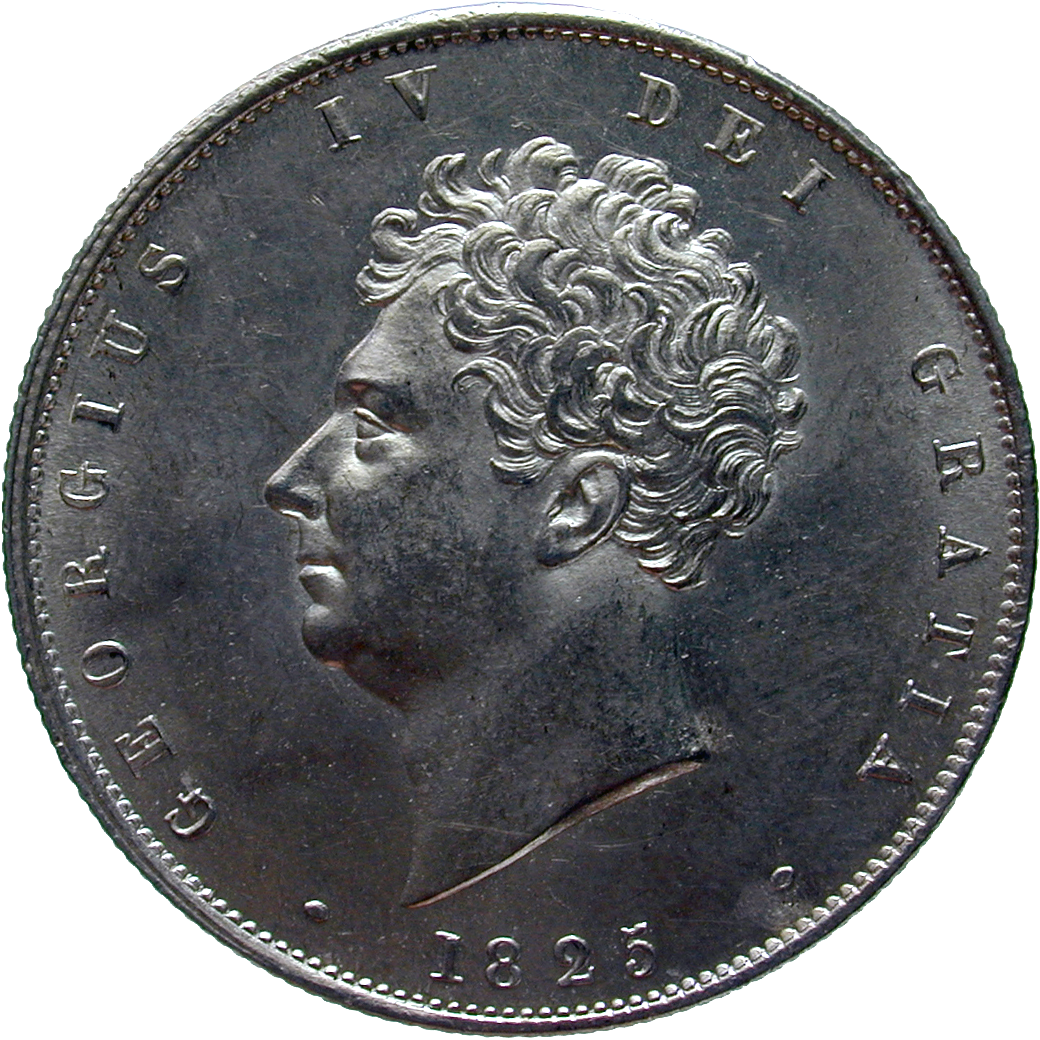 United Kingdom of Great Britain, George IV, 1/2 Crown 1825 (obverse)
