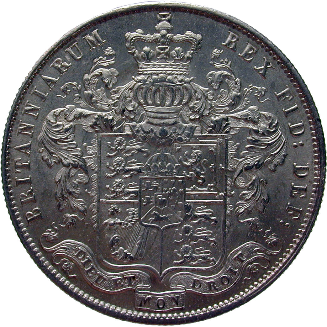 United Kingdom of Great Britain, George IV, 1/2 Crown 1825 (reverse)