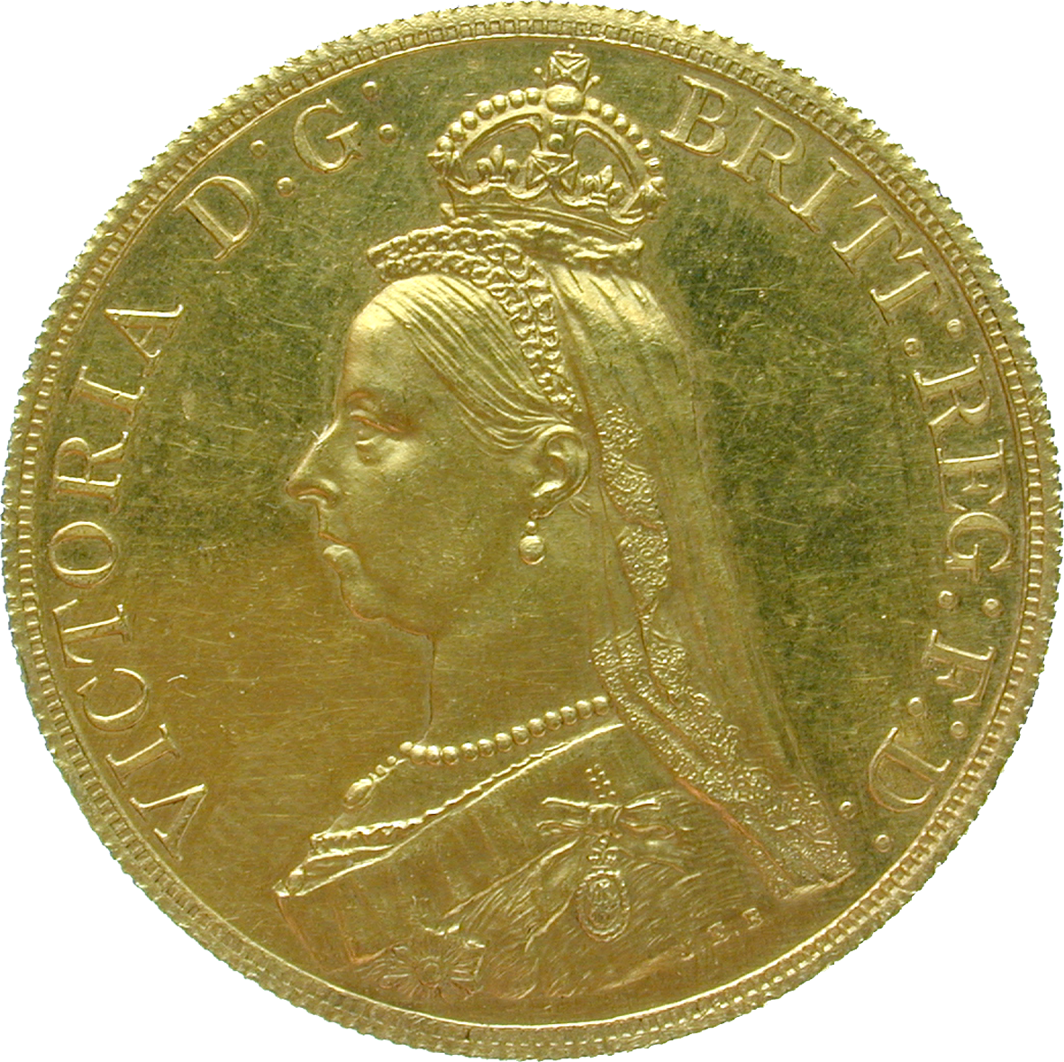 United Kingdom of Great Britain, Victoria, 5 Pounds 1887 (obverse)