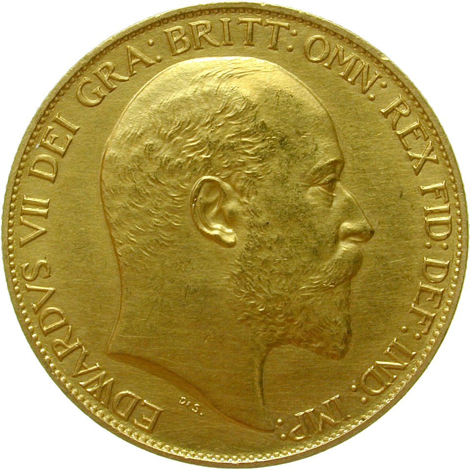 United Kingdom of Great Britain, Edward VII, 2 Pounds 1902 (obverse)