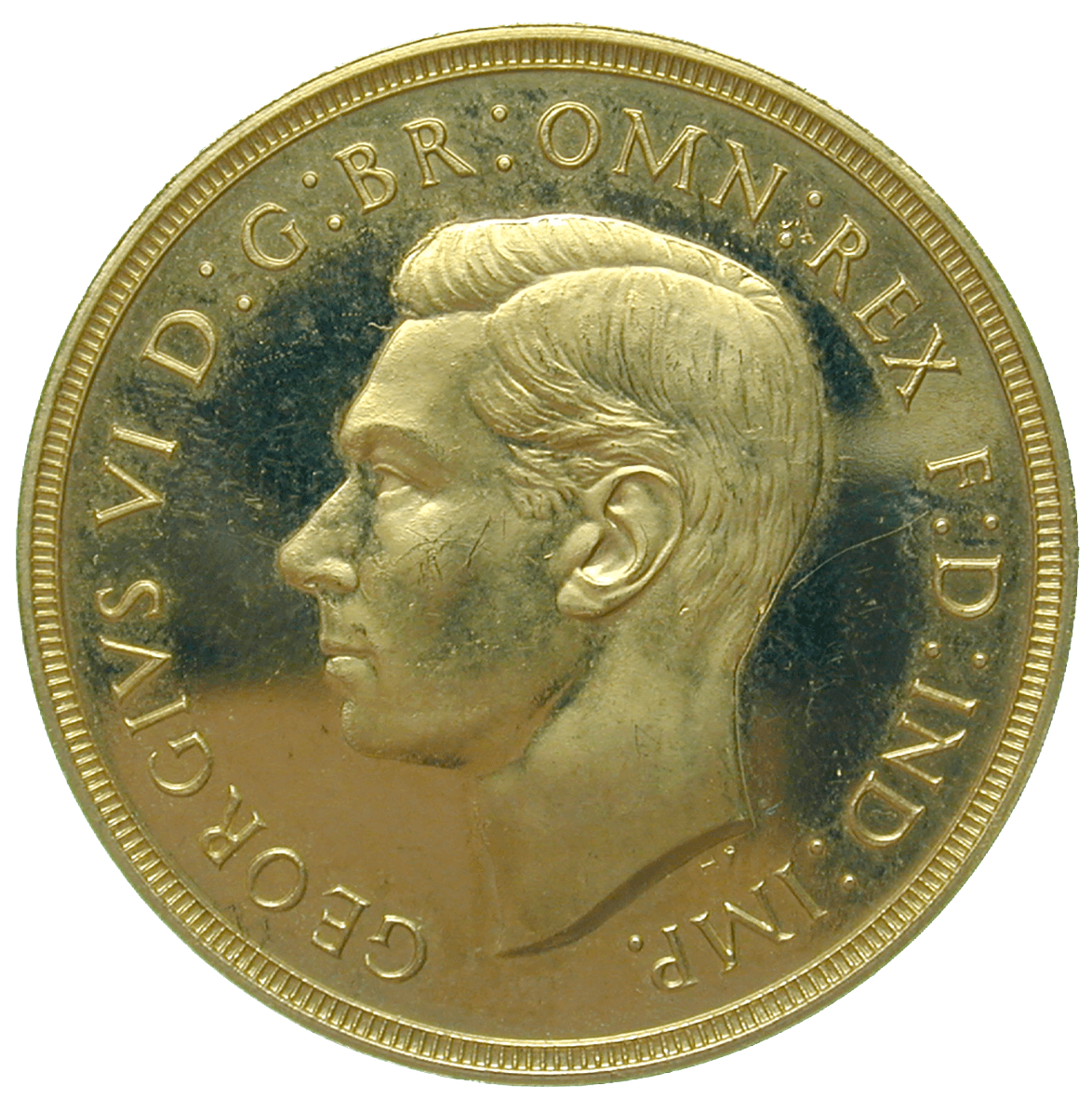 United Kingdom of Great Britain, George VI, 2 Pounds 1937 (obverse)