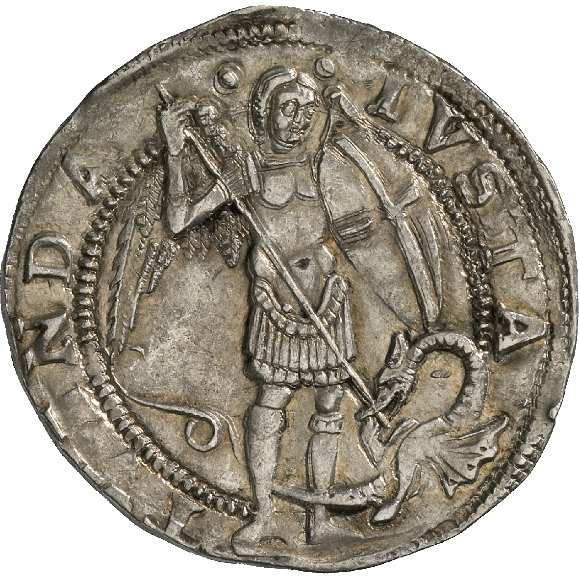 Kingdom of Napels, Ferdinand I of Aragon, Coronato  (reverse)