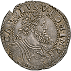 Kingdom of Naples, Charles V, Half Ducaton (obverse)